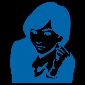 ガッツポーズの女性のイラスト